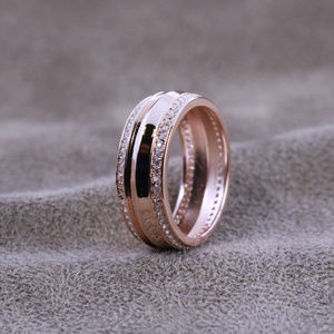1.6 ct.tw 2 Eternity Band Ring-Brilliant Cut Deco